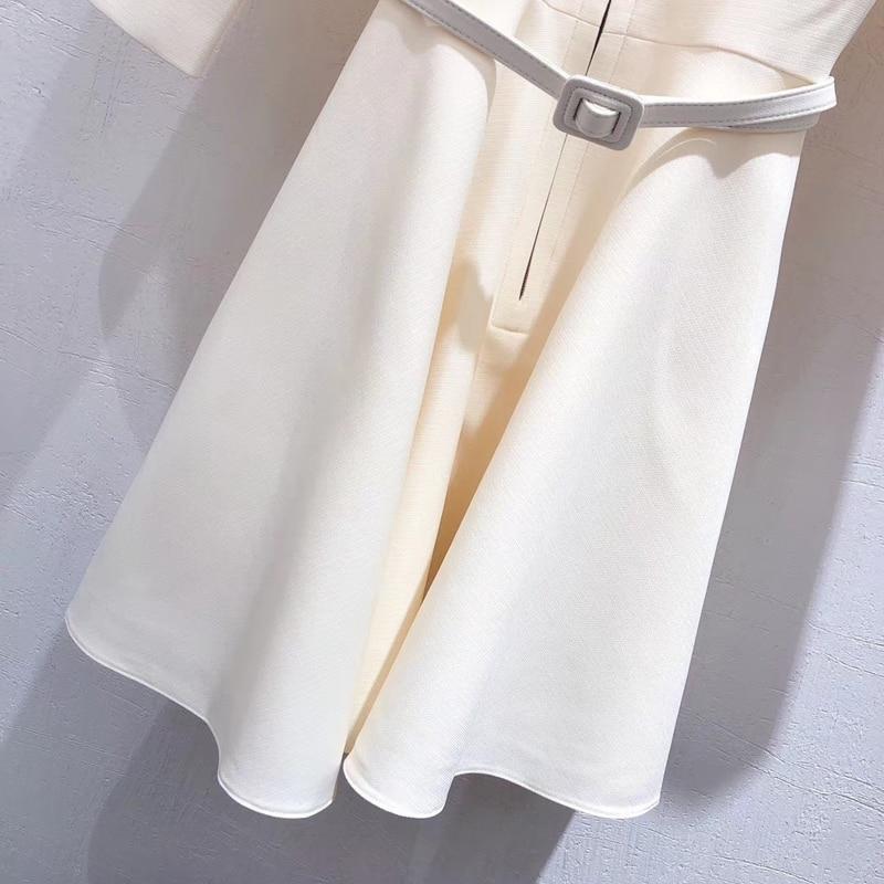 Elegant Mini Dress Women 2019 Autumn Long Sleeve Dress Female Office Wear A line Fashion Dress - 5