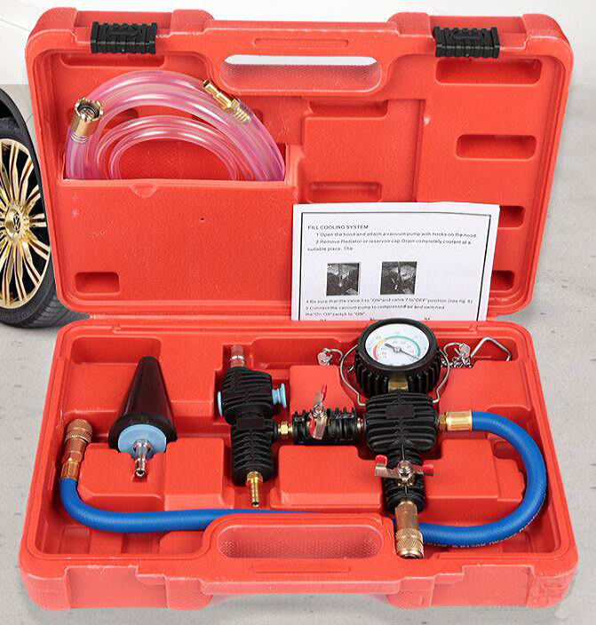 Automobile Radiator Vacuum Pump Coolant Replacement Tool Filler Antifreeze Injector Change Kit