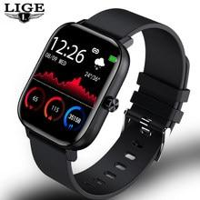 LIGE-reloj inteligente para hombre, accesorio de pulsera resistente al agua IP67 con Bluetooth y pantalla completamente táctil, compatible con Android e ios