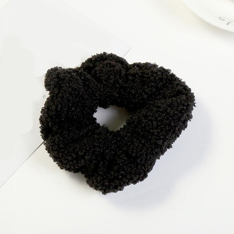 1 мягкий пушистый искусственный мех, пушистый благородный, новинка, шикарные резинки для волос, эластичное кольцо для волос, аксессуары, эластичные розовые резинки для волос - Цвет: 62