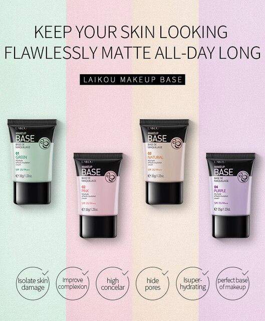 NEW Laikou Full Cover 4 Color Base Concealer Makeup 35g Eye Dark Circles Cream Face Corrector Waterproof Make Up Korean Cosmetic 3