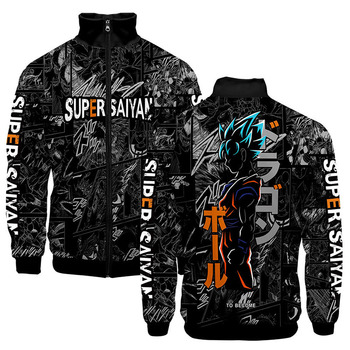 3d Anime Cartoon Dragon Ball Z Son Goku Zipper Hoodies Jackets Long Sleeve 1