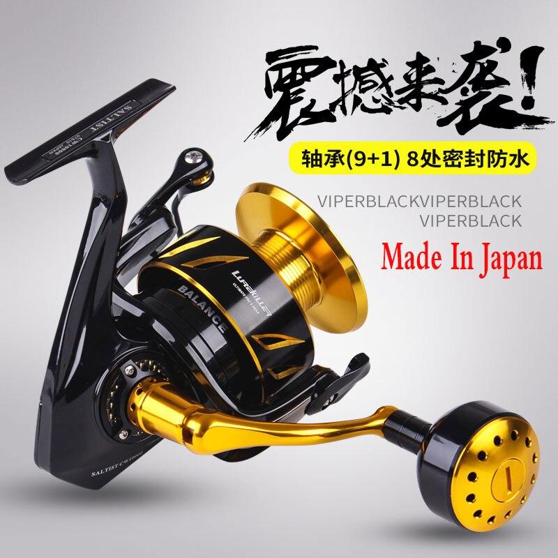 Lurekiller Saltist CW3000- CW10000 Japan Made Spinning Jigging Reel Spinning Reel 10BB Alloy Reel 35kgs Drag Power Fishing