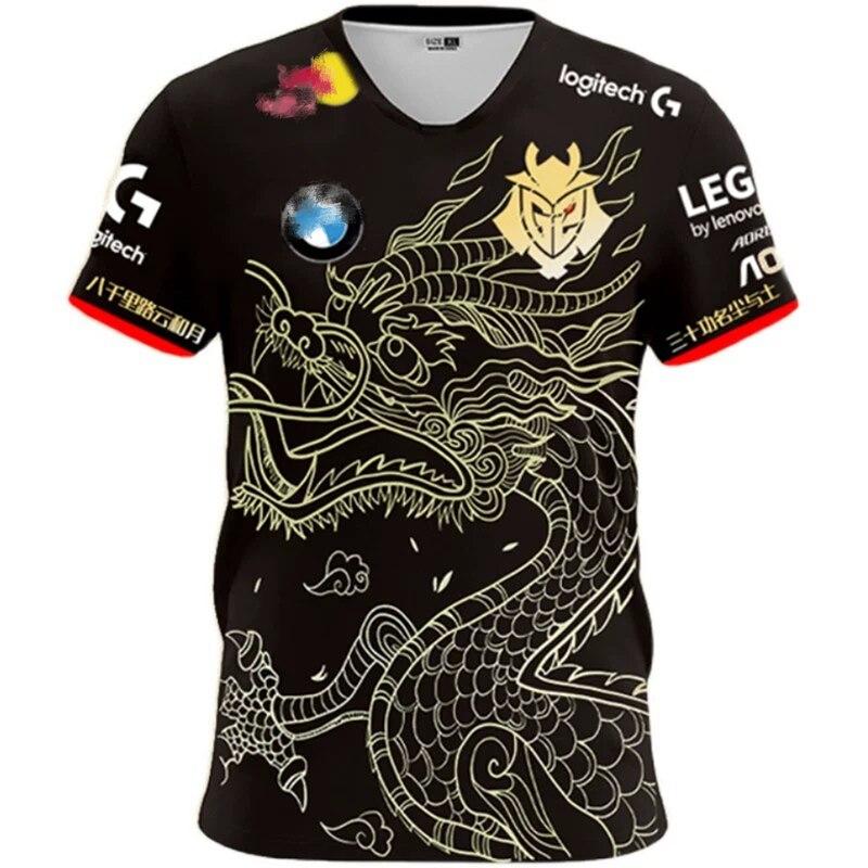 Повседневная футболка G2 ESports, униформа Escap G2 2020, модная футболка для игрока LOL CSGO, Высококачественная футболка для участников игры