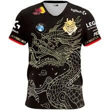 G2 esports casual top g2 escap uniforme camiseta 2020 lol csgo jogador moda camiseta de alta qualidade jogo fã membro da equipe tshirt