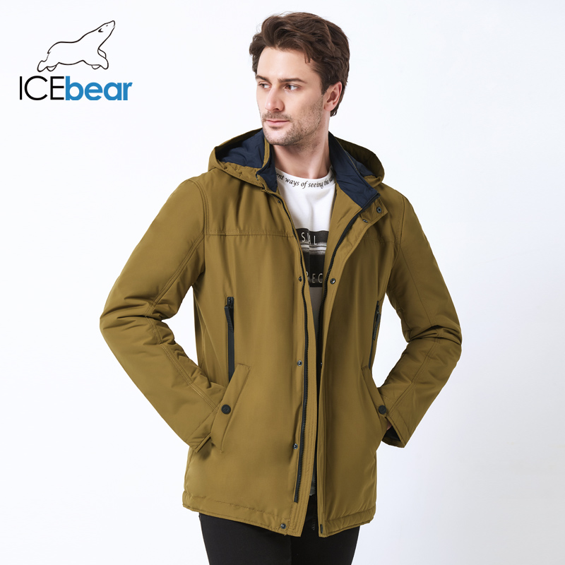Icebear 2019 jaqueta de alta qualidade outono nova gola casual jaqueta masculina destacável chapéu marca men mwc18123i