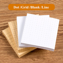 Kit de notas adesivas para escola, 2 peças, estilo kawaii, ponto em branco, pós-it, bloco de memo, 100 folhas, marcador de página papelaria de escritório