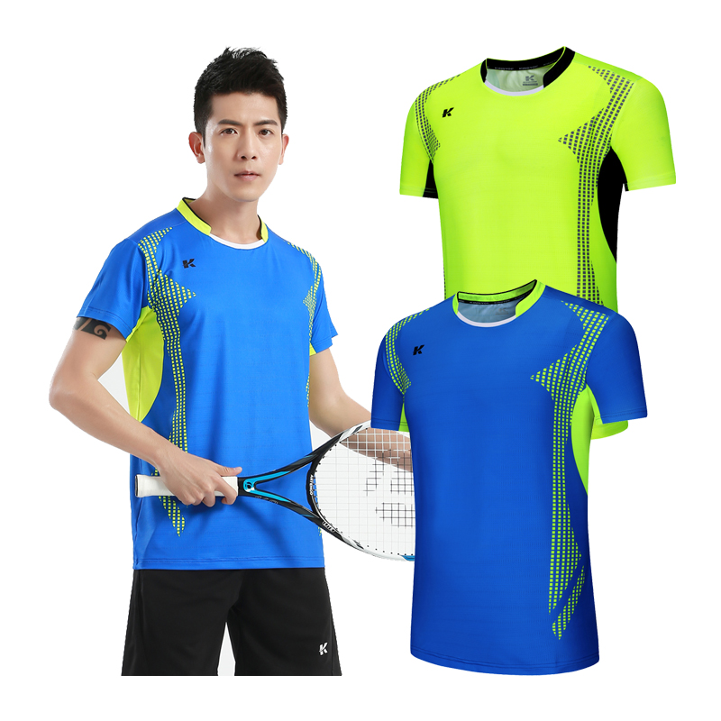 Badminton T-shirt Men Soccer Football Jerseys Shirts Sport Kit Table Tennis Short Sleeve Golf Shirt Breathable Custom Print Top