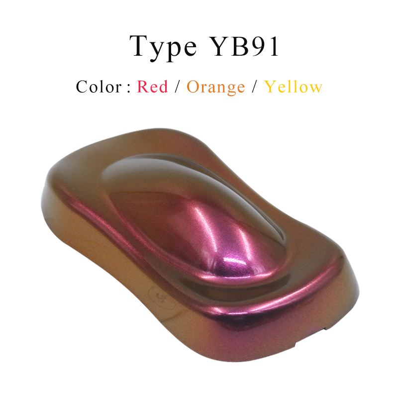 YB91 Chameleon Pigments Acrylic Paint Powder Coating Dye For Cars Automotive Arts Crafts Painting Decoration Nails Furniture 10g