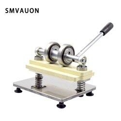 SMVAUON, máquina de corte Manual de troquelado de madera y cuero, hecha a mano, de PVC/EVA, molde de hoja, máquina de prensado para troquelado láser personalizado
