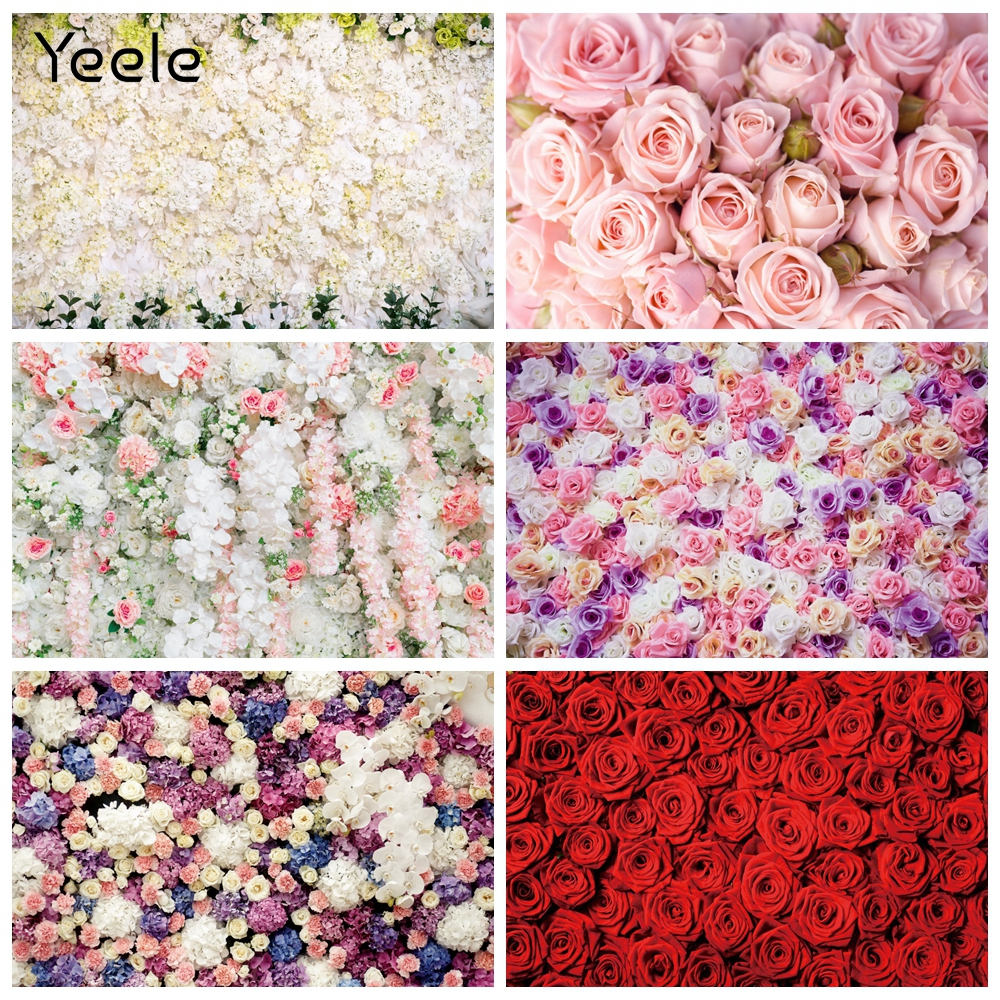 Yeele Wedding Ceremony Party Photocall Flower Wall Photography Backdrops Customized Photographic Backgrounds For Photo Studio