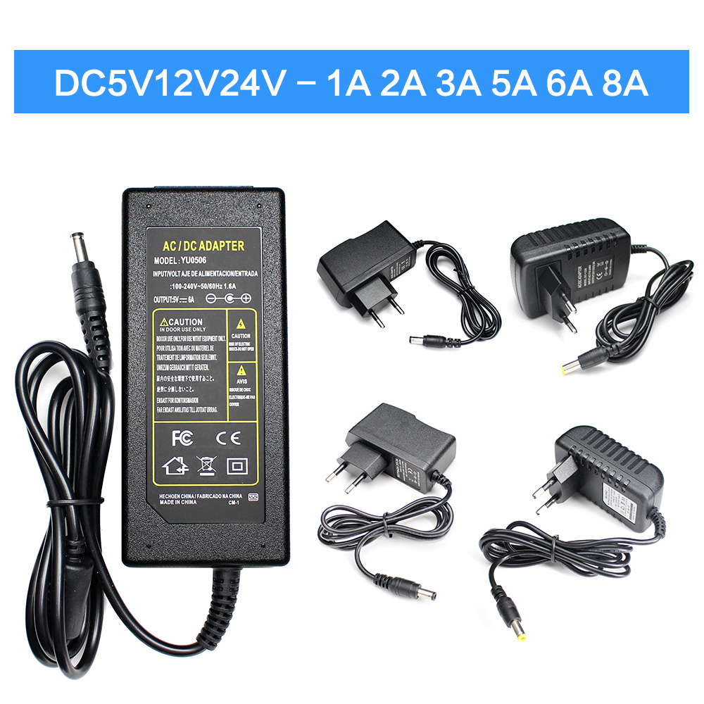 <font><b>AC</b></font> <font><b>DC</b></font> 5V 12V 24V Power Supply Adapter 1A 2A <font><b>3A</b></font> 5A 6A 8A 220V TO 5 12 <font><b>24</b></font> V Volt Switching Power Supply Transformers LED Driver image
