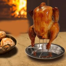 Chicken-Roaster-Rack Pans Bbq-Accessories-Tools Barbecue-Grilling Baking Non-Stick ORGANBOO