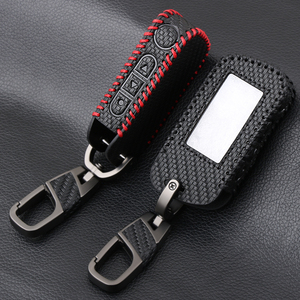 Image 1 - Carbon Fiber Style Leather A93 Car Key Case for Starline A39 A63 Two Way Car Alarm Remote Controller LCD Transmitter KeyChain