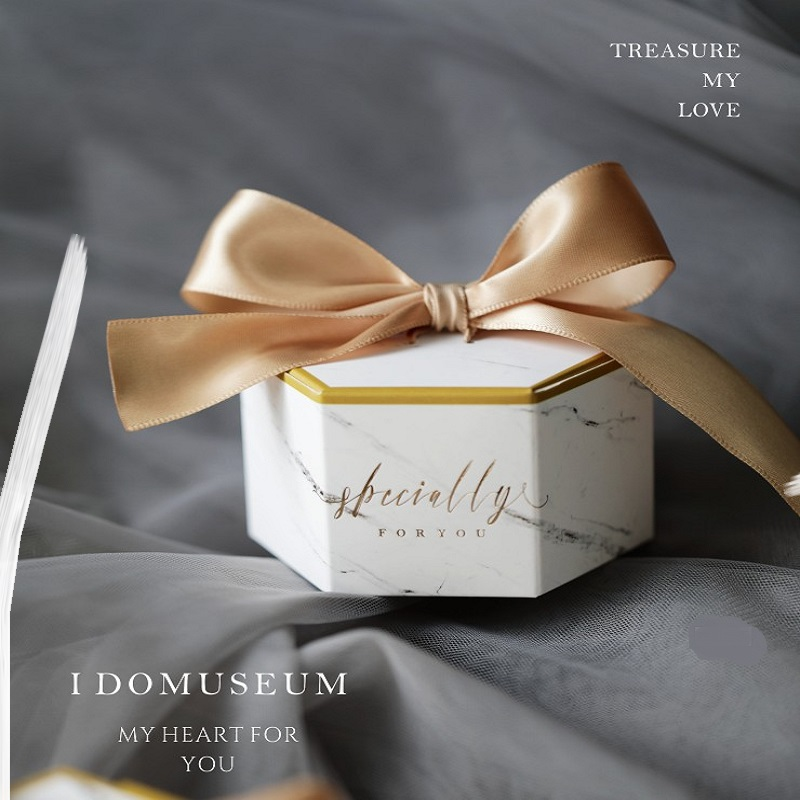 New Europe Marble Style Gift Box Baby Shower Birthday Party Candy Box Sweet Chocolate Boxes Wedding Favors Decoration