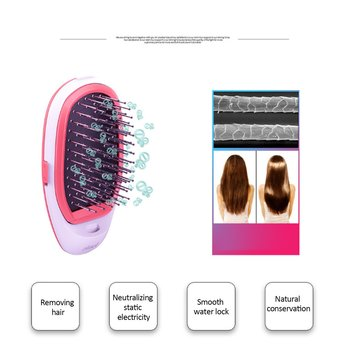 Portable Hair Ionic Brush Hair Straightener Brush Negative Ion Comb Takeout Anti-static Massage Straight Hair Comb ion bar length 800mm 860mm anti static eliminator ion bar