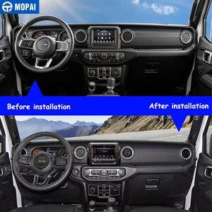 Image 3 - MOPAI Adesivi Per Auto per Jeep Gladiatore JT 2018 + Decorazione di Interni Auto Kit di Copertura Accessori per Jeep Wrangler JL 2018 2019 +
