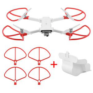 Image 3 - Folding Propeller+ Extended Heighten Leg Tripod+Lens protection cover + protection rings For Xiaomi FIMI X8 SE Drone Accessories