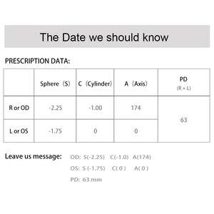 Image 5 - أفضل النظارات العدسات إطار نظارات إعداد Rx قصر النظر فوتوكروميك القراءة خدش واقية مضادة للانعكاس طلاء HMC Lf01