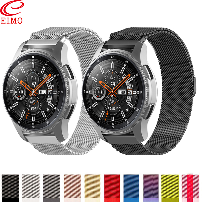 Galaxy watch 46mm For samsung Gear S3 frontie active 2 42mm S2 ticwatch c2 hauwei watch gt amazfit bip strap <font><b>20mm</b></font> 22mm bracelet image