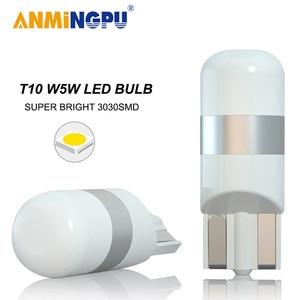 ANMINGPU Signal Lamp Led T10 Canbus 3030SMD 168 194 W5W Led Bulbs Auto Clearance Lights Led Reading Interior Light White 12V