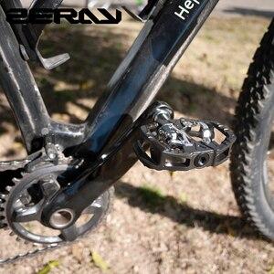 Image 5 - Zeray pedais mtb plataforma dupla auto bloqueio pedais de bicicleta de montanha compatível com spd bicicleta acessórios ZP 109S mtb pedais