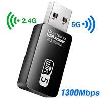 5 adaptador de Wifi Ghz Wifi USB adaptador USB 3,0 Wi-Fi adaptador Ethernet Wi-Fi adaptador de antena tarjeta de red módulo WiFi para PC portátil