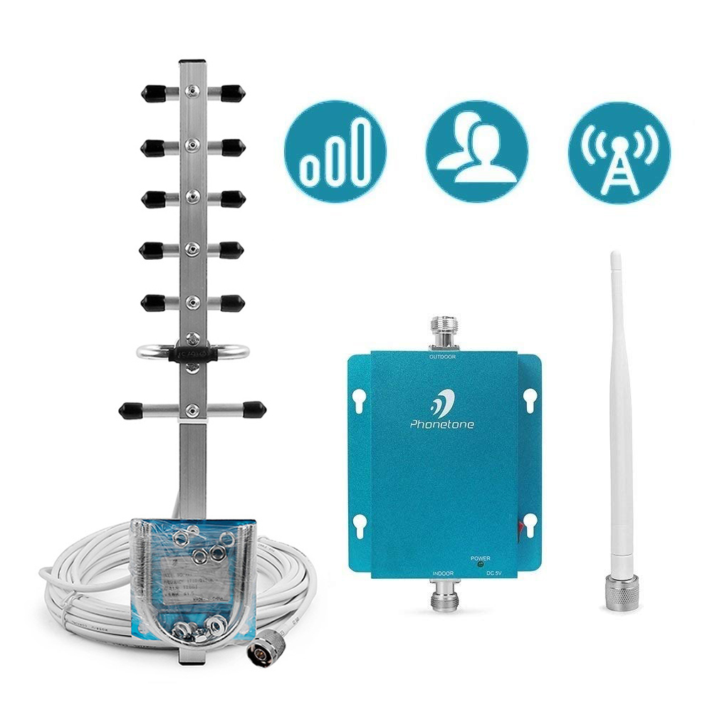 MTS Tele2 Beeline 3G Mobile Cell Phones Signal Repeater Booster Amplifier UMTS 2100MHz B1 Yagi Antenna Set For 3G Voice And Data
