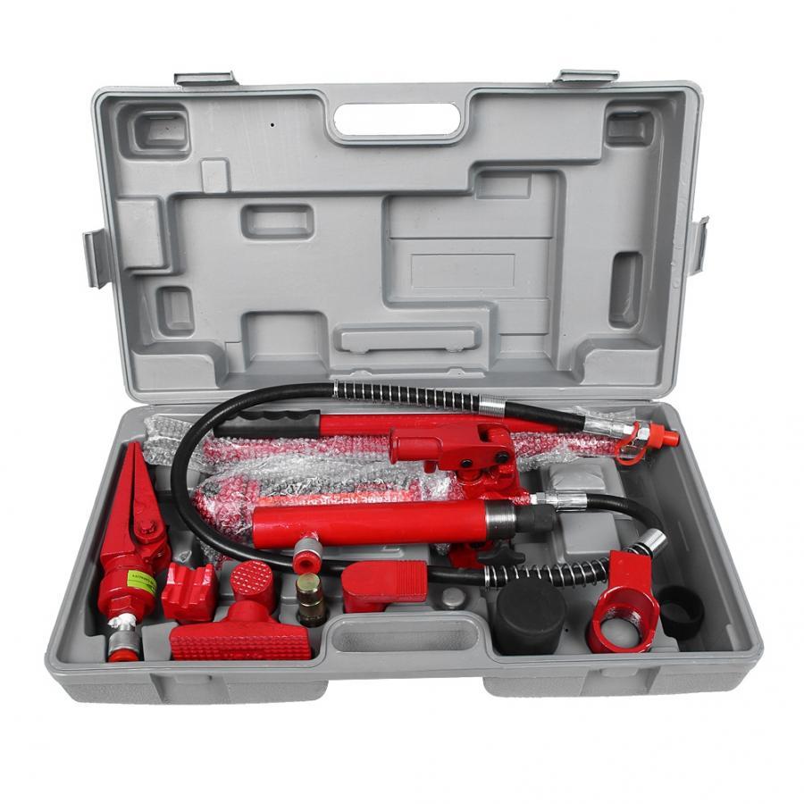 1-set-4-ton-hydraulic-power-car-van-jack-body-power-repair-kit-tools-red-hydraulic-jack