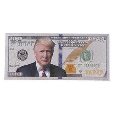 1pc plástico prata chapeado donald trump papel dinheiro para presentes de natal e coleção 14.6*6.5cm