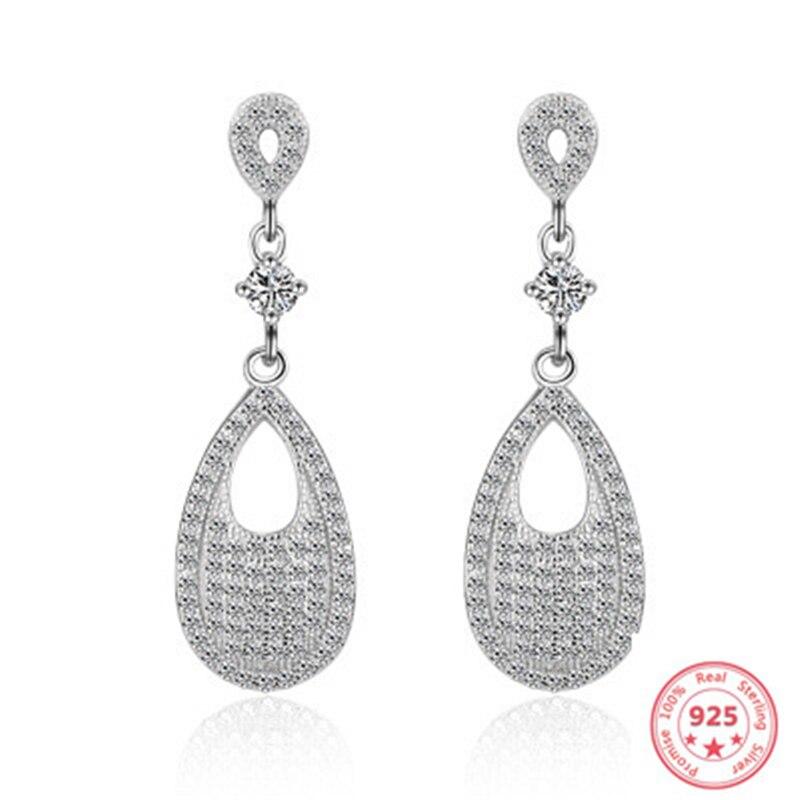 300% Real S925 Sterling Silver Earring for Women Luxury Wedding Bizuteria Gemstone Solid Silver 925 Jewelry Garnet Earring Girl
