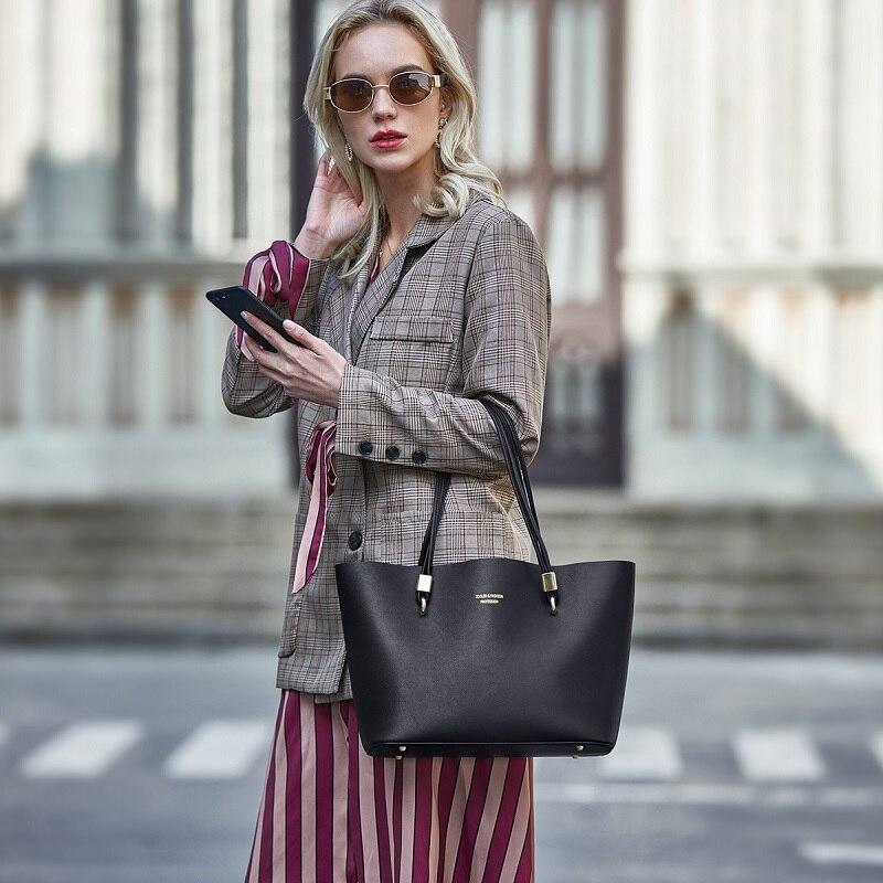 ZOOLER, новинка 2019, женская модная Высококачественная сумка тоут из искусственной кожи, роскошные сумки на молнии, элегантные женские сумки на ... - 5