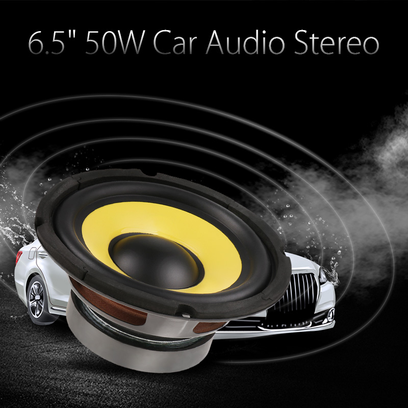 6.5'' 50W <font><b>Car</b></font> <font><b>Audio</b></font> Stereo Horn Subwoofer Bass HIFI <font><b>Speaker</b></font> 4 Ohm Magnet For <font><b>Car</b></font> Truck RV Camper Boat Yacht Etc Woofer <font><b>Speaker</b></font> image