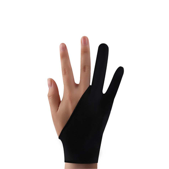 Two-Finger Artist Anti-Touch Glove For Drawing Hand Protector Tablet Right And Left Hand Glove Anti-Fouling For Screen Board 1