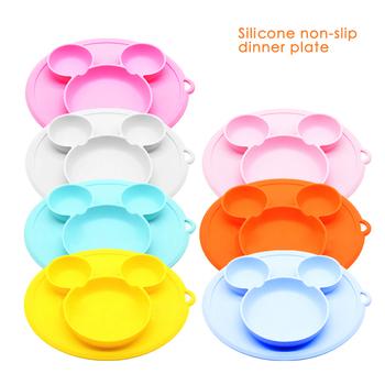 Miseczka silikonowa dla dzieci miska z przyssawką talerz dla dzieci talerz dla dzieci dziecko antypoślizgowe karmienie Platos dzieci zastawa stołowa talerz tanie i dobre opinie Silica gel CN (pochodzenie) Stałe Bowl