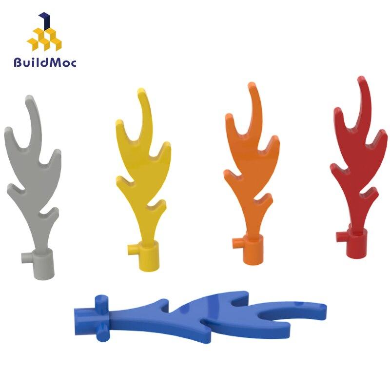 BuildMOC Compatible Assembles Particles  6126 Great Flame Building Blocks Parts DIY LOGO Educational Creatives Gift Toys