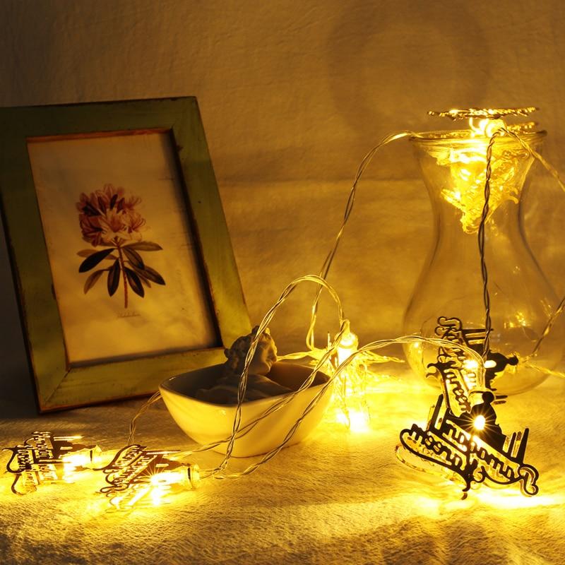 Ramadan Decorations Letter Led String Lights Eid Mubarak Home Decor Islam Muslim Event Party Supplies Eid Al-fitr Decoration