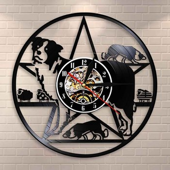 Border Collie Dog Wall Clock Training Club Herding Breed Decor Vinyl Record Lovers Gift
