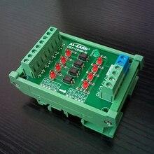 Scheda di isolamento accoppiatore ottico a 4 canali 8 canali scheda di conversione tensione livello segnale PLC 1.8 3.3 5 12 24V