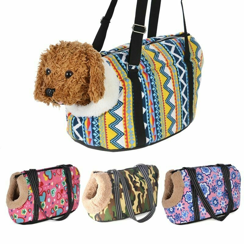 Classic Pet Carrier Cozy Soft Puppy Dog Cat Backpack Shoulder Bags Outdoor Travel Pets Sling Bag for Small Dogs Chihuahua Pug 1
