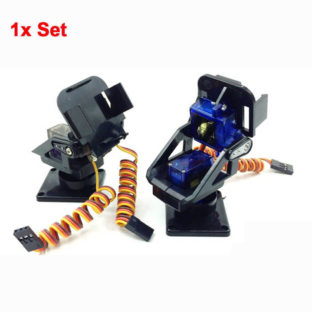 1 Set RC FPV Mini Servo SG90 Camera Platform Unassembled Gimbla Pan/Tilt Anti-vibration Camera Mount for Aircraft Plastic FPV