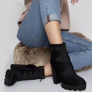 Image 5 - MORAZORA 2020 New ARRIVALข้อเท้ารองเท้าผู้หญิงฤดูใบไม้ร่วงฤดูหนาวรองเท้าส้นสูงรองเท้าซิปหัวเข็มขัดเซ็กซี่PARTY PROMรองเท้าหญิง