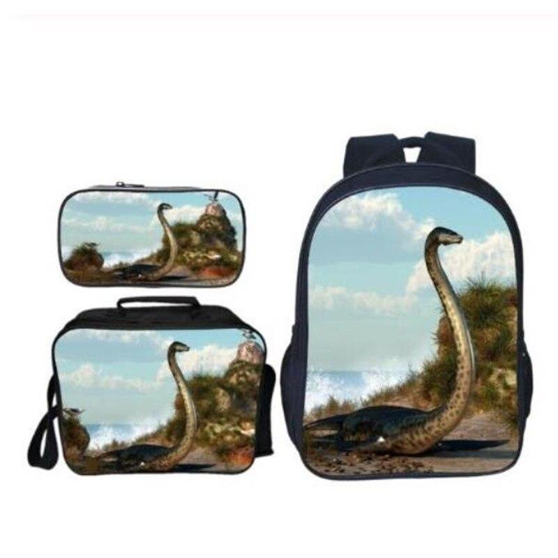 Sacs d'école pour enfants dinosaure garçons sac à dos pour enfants cartable pour filles 3 pièces/ensemble