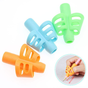 3pcs Children Writing Pencil Pen Holder Kids Learning Practise Silicone Pen Aid Grip Posture Correction Device for Students