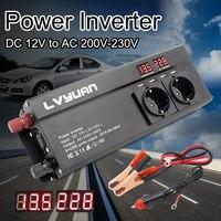 Inversor de corriente de 12 v, 220 v, 6000W, enchufe de la UE, 3 salidas de CA, 4 USB, convertidor, accesorios de Inversor Solar automático