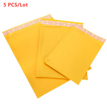 5Pc/lot Thickened Kraft Paper Bubble Envelopes Bags Mailers