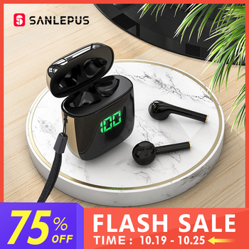 SANLEPUS Led Earphone TWS Wireless Bluetooth Headphones Stereo Earbuds Headset With Wireless Charging For Xiaomi Android iOS