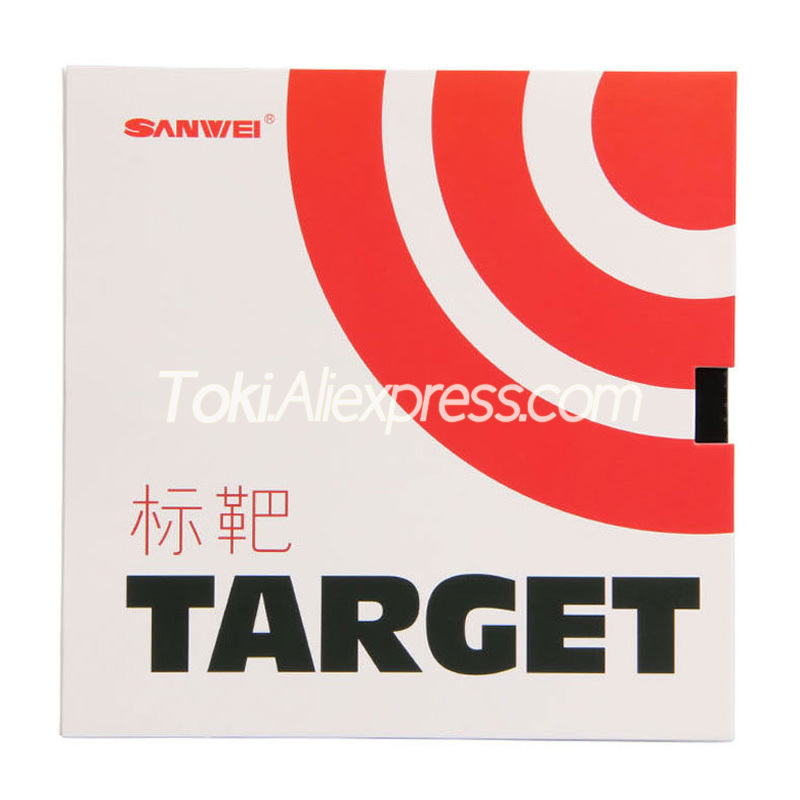 SANWEI TARGET Table Tennis Rubber (Sticky Offensive) SANWEI Ping Pong Sponge