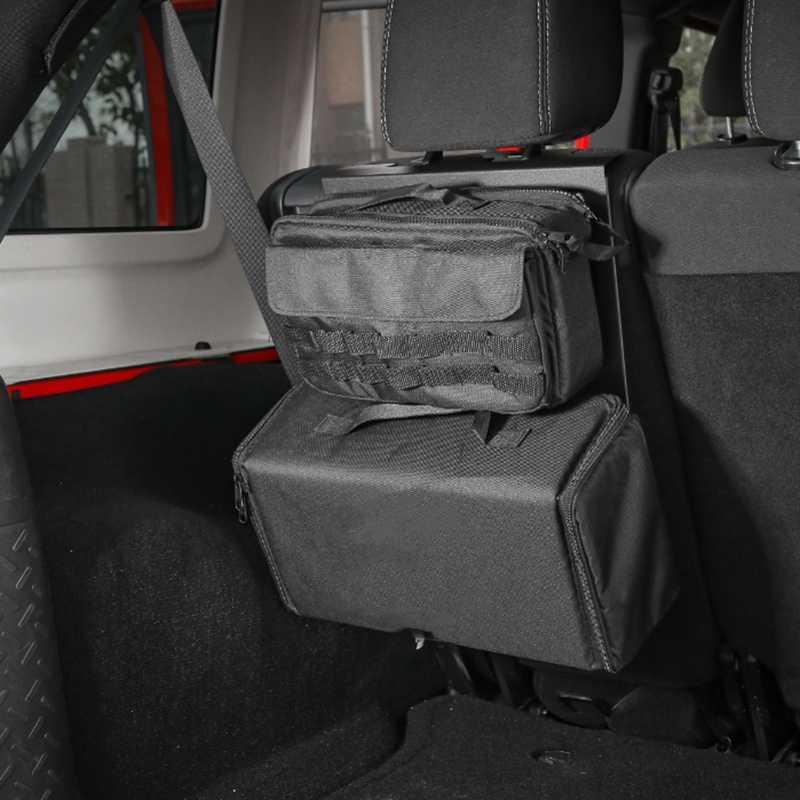 Siège dossier étagère de rangement support de coffre porte-bagages support pour 2007-2017 Jeep Wrangler JK voiture intérieur accessoires
