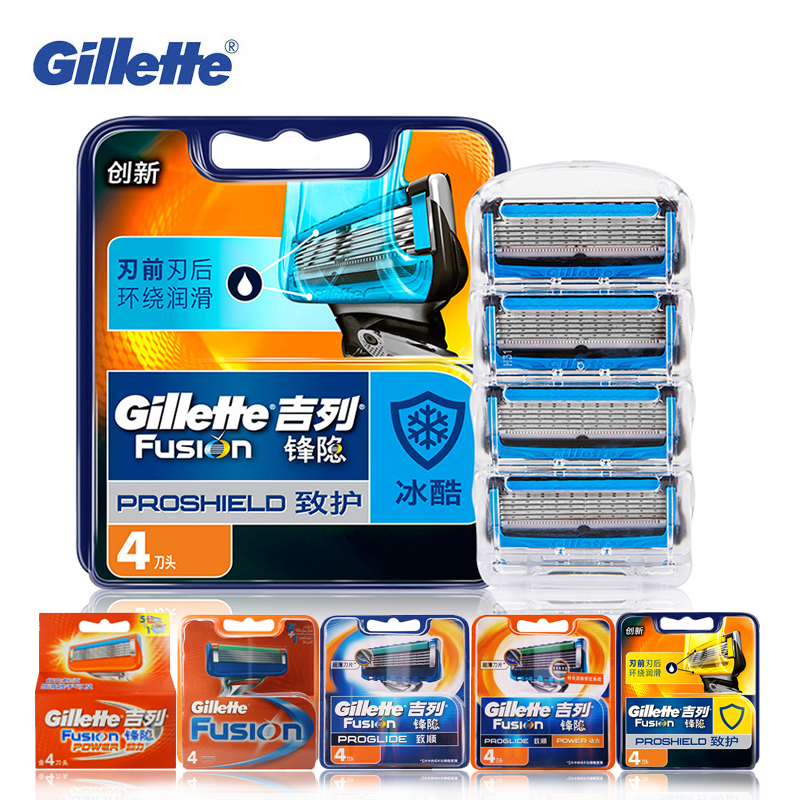 Gillette Fusion Shaving Blades For Men Razor Shavers More Smooth ProGlide Proshield Safety Razor Refills